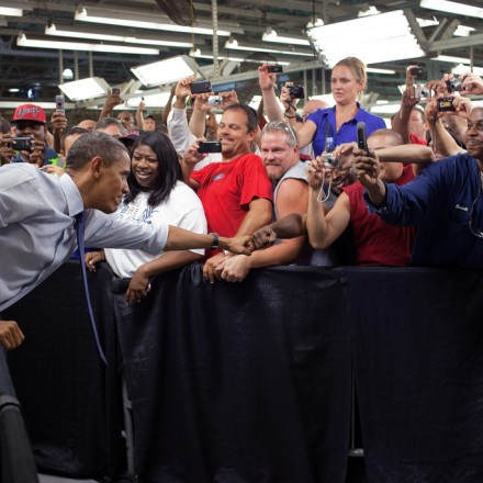 President Obama visits a Ford plant in Chicago. Image: Pete Sousa (White House)